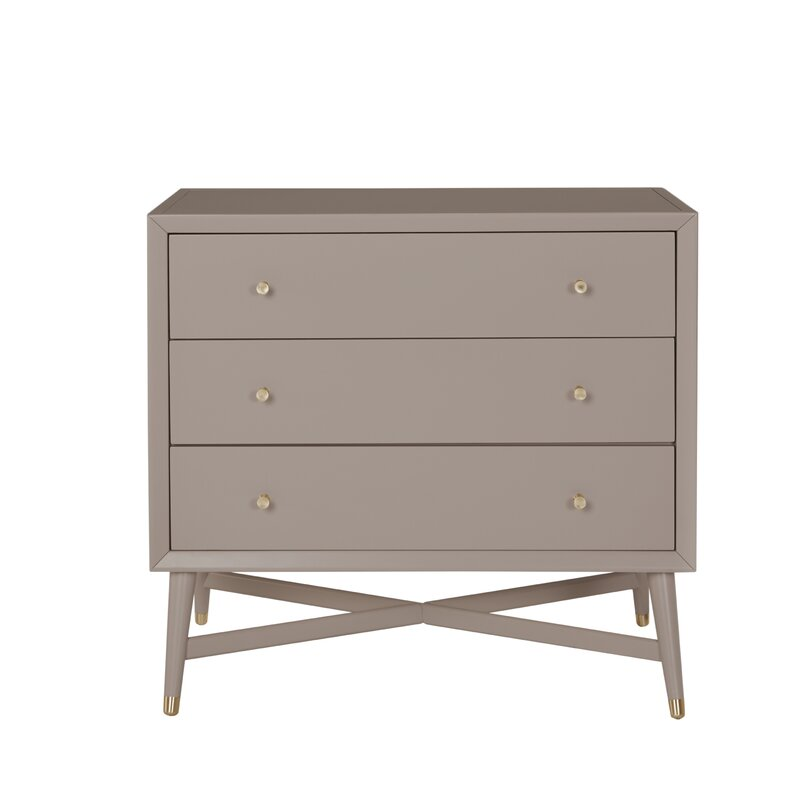 MidCentury 3 Drawer Dresser Easy To Assemble Dresser 184
