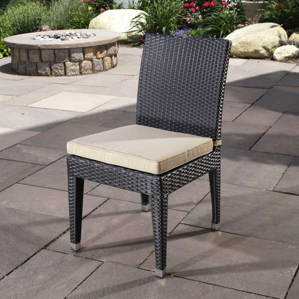 Cypress Stacking Patio Dining Chair with Cushion by Madbury Road