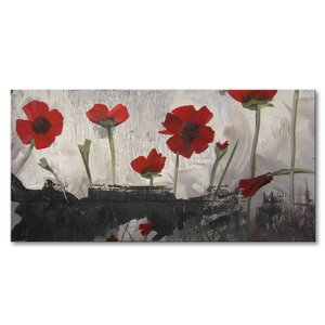Painted Petals II Painting Print on Wrapped Canvas by Ready2hangart
