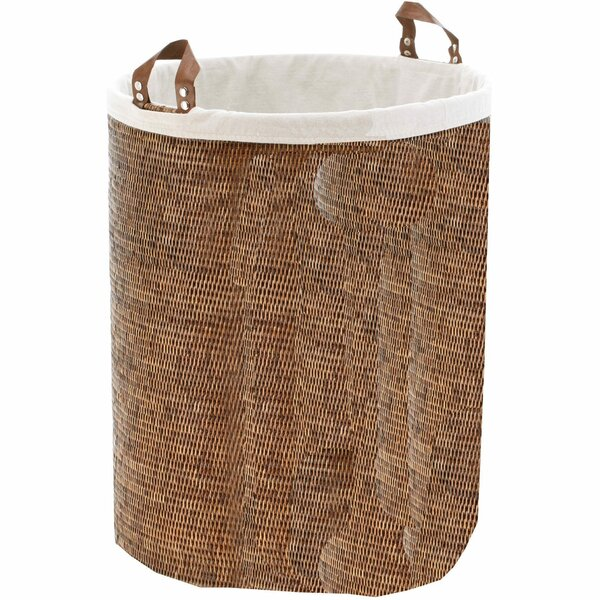 Single Round Spa Laundry Hamper with Handles by Mistana