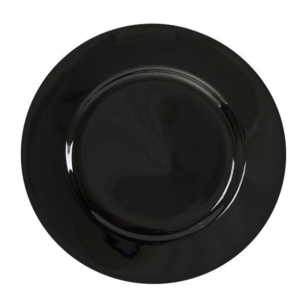 Black Rim 9 Lunch Plate (Set of 6) by Ten Strawber