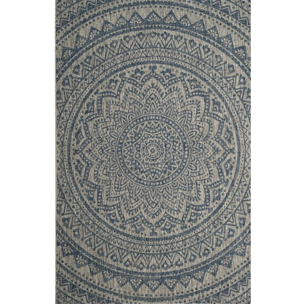 Amedee Blue Indoor/Outdoor Area Rug by Bungalow Rose