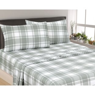Rakesh Plaid 300 Thread Count 3 Piece Satin Sheet Set By Gracie Oaks