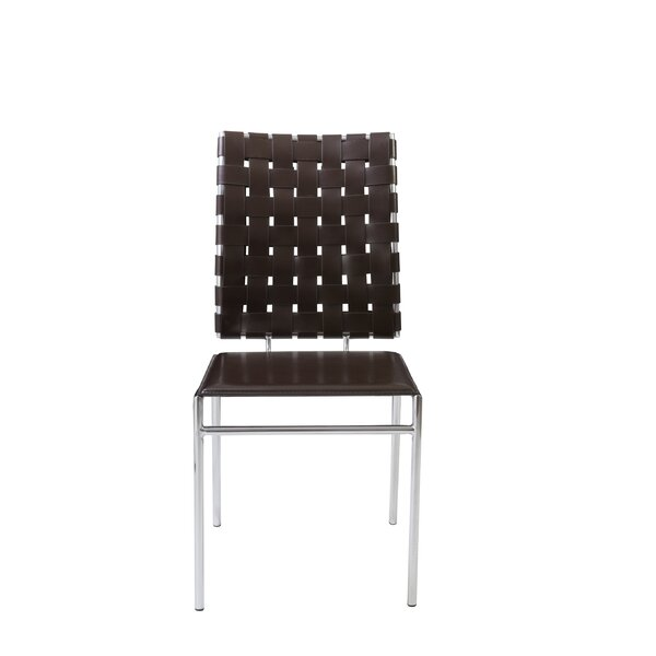 Amundsen Genuine Leather Upholstered Dining Chair (Set of 4) by Orren Ellis