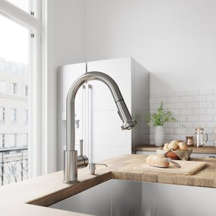 Harrison Pull Down Single Handle Kitchen Faucet with Optional Soap Dispenser ByVIGO