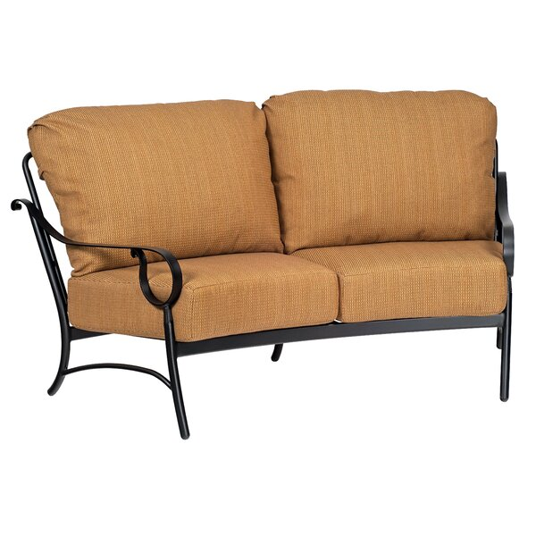 Ridgecrest Crescent Loveseat with Cushions by Woodard