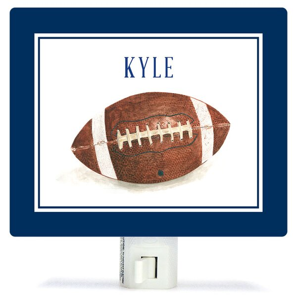 Personalized Sports and Games Football Canvas Night Light by Oopsy Daisy