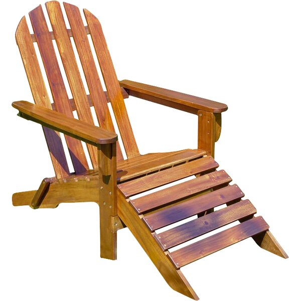 Adirondack Chair with Ottoman by International Caravan