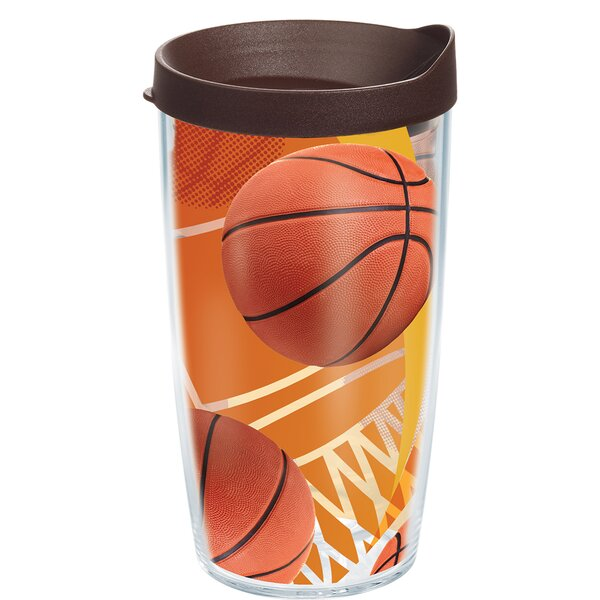 Game On Basketballs Plastic Travel Tumbler by Tervis Tumbler