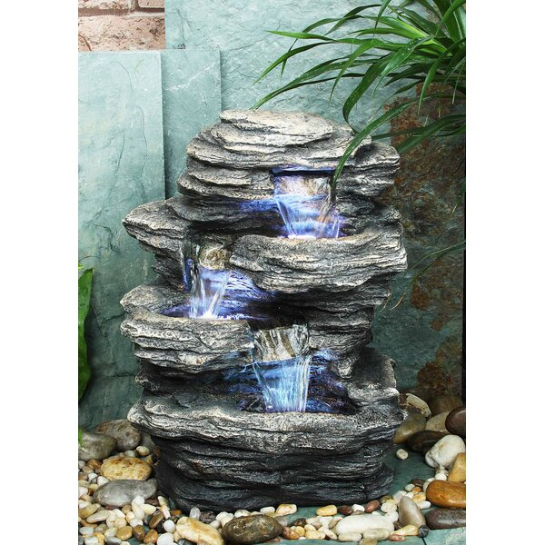 Resin Rock Fountain with Light by Hi-Line Gift Ltd