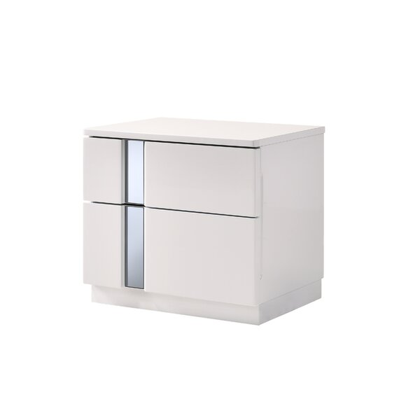 Adelaide 2 Drawer Nightstand by Wade Logan