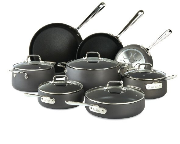 HA1 Hard Anodized 13 Piece Non-Stick Cookware Set by All-Clad