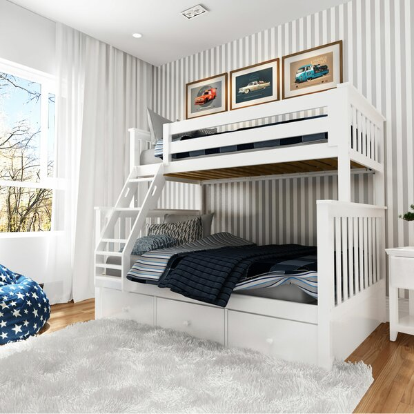 Wardingham Bunk Bed with Drawers by Harriet Bee