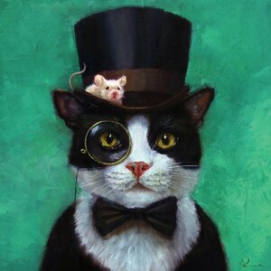 'Tuxedo Cat' Painting Print on Canvas by East Urban Home