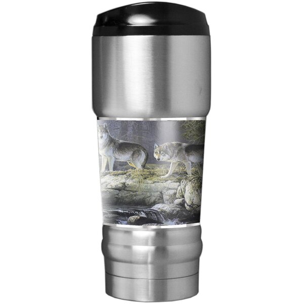 Wolves Traditions 18 oz. Stainless Steel Travel Tumbler by Great American Products