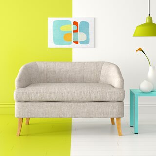 Apollo Fabric Loveseat by Hashtag Home SKU:CD784480 Information