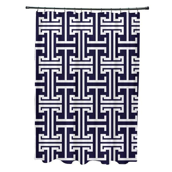 Greek Isles Geometric Print Shower Curtain by e by design