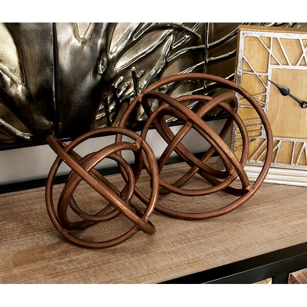 2 Piece Aluminum Ring Sculpture Set by Cole & Grey