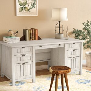 White Executive Desk With Drawers white executive desks you'll love | wayfair