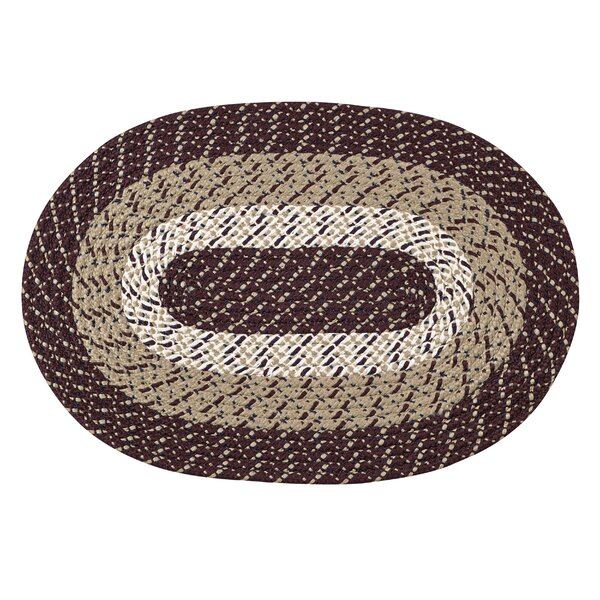 Braided Stripe Brown/Taupe Area Rug by Better Trends