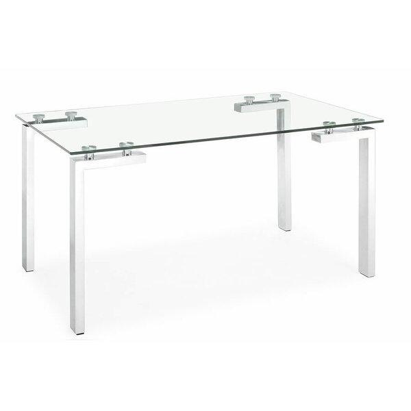 Brinda Glass Dining Table by Orren Ellis