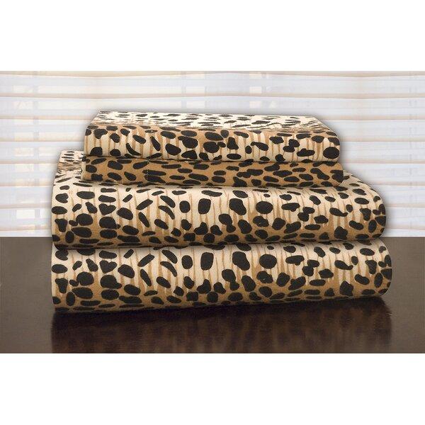 Heavy Weight Leopard Flannel Sheet Set by Pointehaven