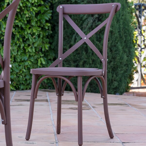 Blakemore Vintage Style Stacking Patio Dining Chair (Set of 2) by Winston Porter Winston Porter
