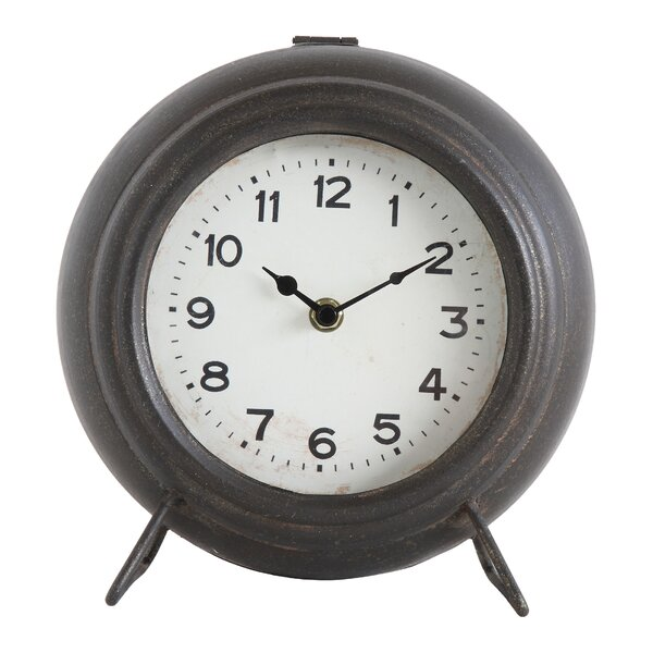 Metal Mantel Clock by Charlton Home