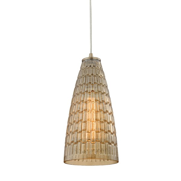 Saba 1-Light Cone Pendant by Bay Isle Home