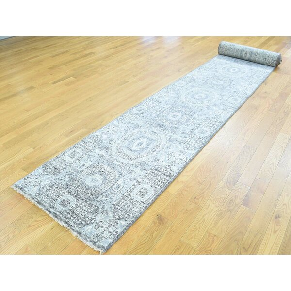 One-of-a-Kind Best Design Undyed Natural Handwoven Ivory Wool Area Rug by Isabelline