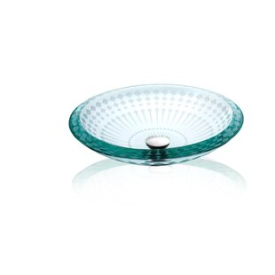 Deals Glass Circular Vessel Bathroom Sink By Lenova