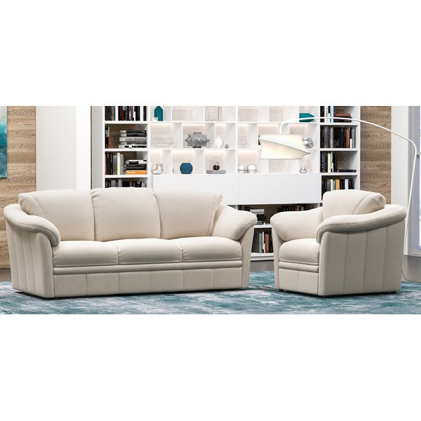 Lyons 2 Piece Leather Living Room Set by Westland and Birch