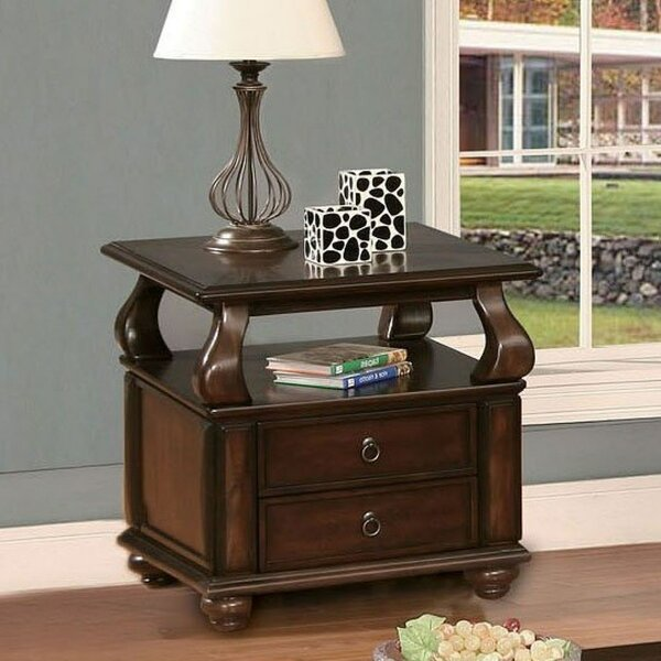 Charleen End Table with Storage by Andrew Home Studio Andrew Home Studio
