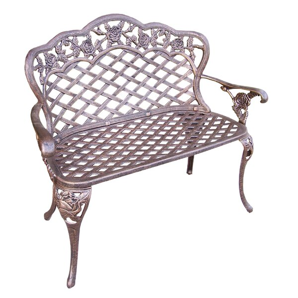 Tea Rose Aluminum Garden Bench by Oakland Living