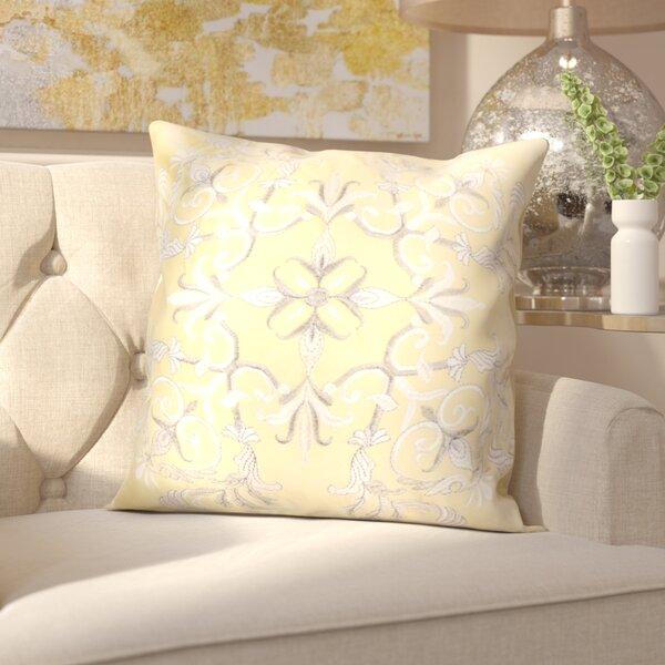 Hepworth Embroidery Velvet Throw Pillow by Mercer41
