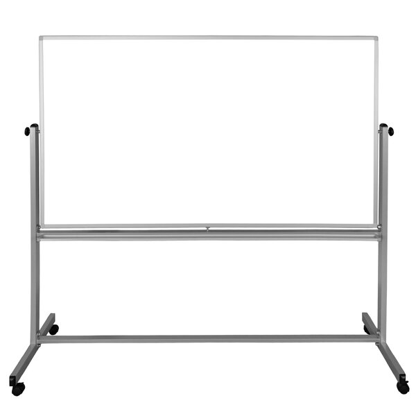 Double-Sided Magnetic Whiteboard, 72 x 74.5 by Luxor