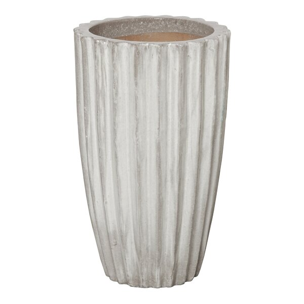 Steppe Round Tall Ceramic Pot Planter by Wrought Studio