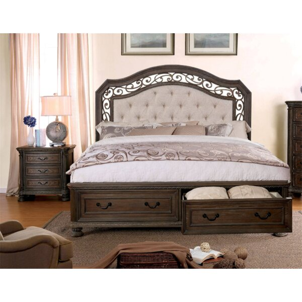 Simpson Upholstered Storage Standard Bed by Fleur De Lis Living