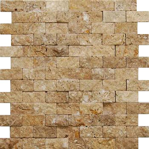 Noce 2'' x 4'' Travertine Splitface Tile in Brown by Epoch Architectural Surfaces