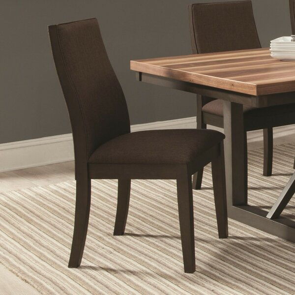Mcnichols Wooden Upholstered Dining Chair (Set of 2) by Williston Forge