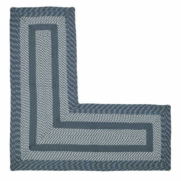 Newport L-Shaped Slate Blue Area Rug by Better Trends