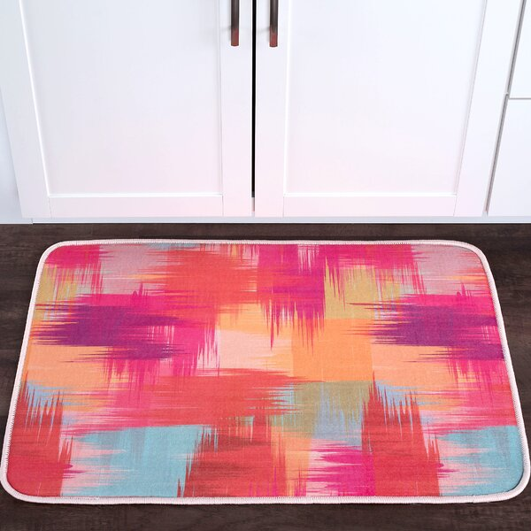 Knepp Crosshatch Foam Core Bath Rug by Zipcode Design