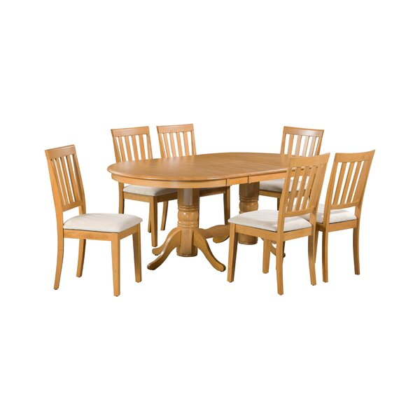 Schacht 7 Piece Extendable Solid Wood Dining Set by Winston Porter