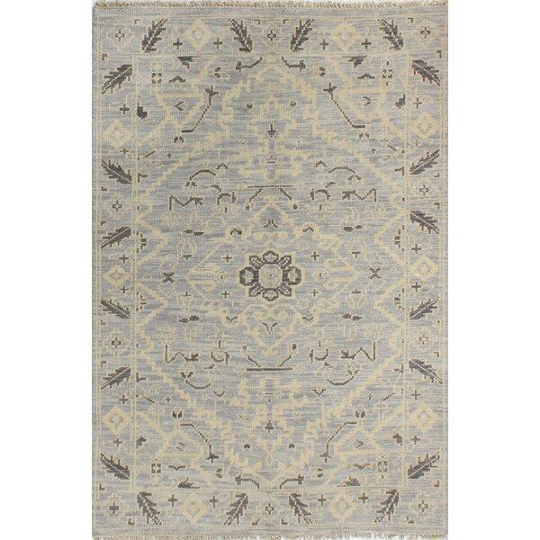 Kurtis Hand Knotted Wool Silver Area Rug by Mistana
