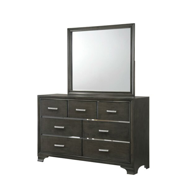 Lawlor 7 Drawer Dresser with Mirror by Latitude Run