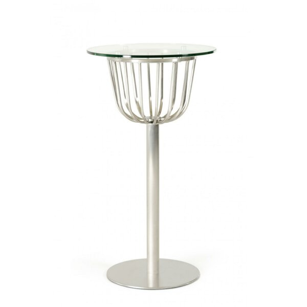 Christopherso Glass Top Pub Table by Orren Ellis