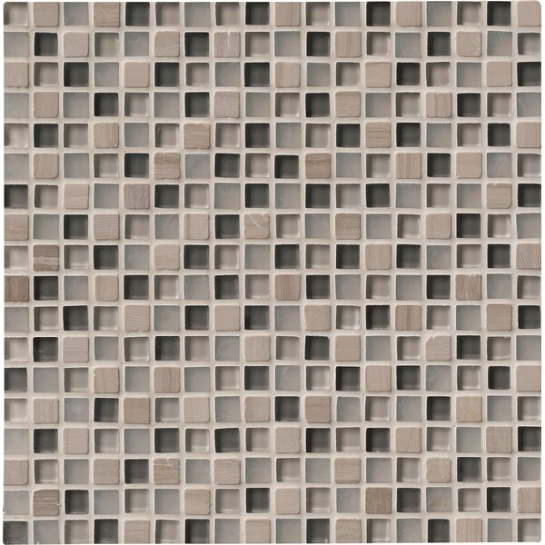 0.625 x 0.625 Glass Mosaic Tile in Arctic Cloud by MSI