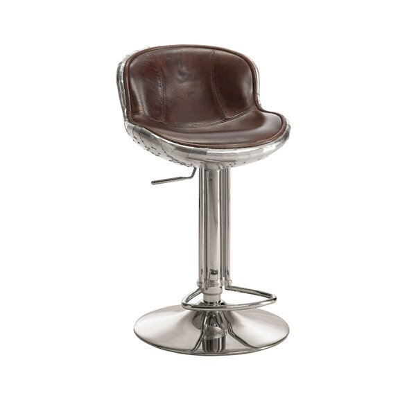 Annessia Adjustable Height Swivel Bar Stool by 17 Stories 17 Stories