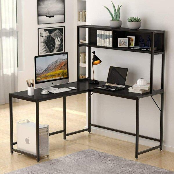 Bourdeau L-Shape Desk with Hutch
