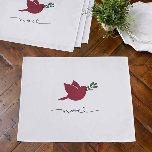 Noel Bird Placemats (Set of 4) by Birch Lane™